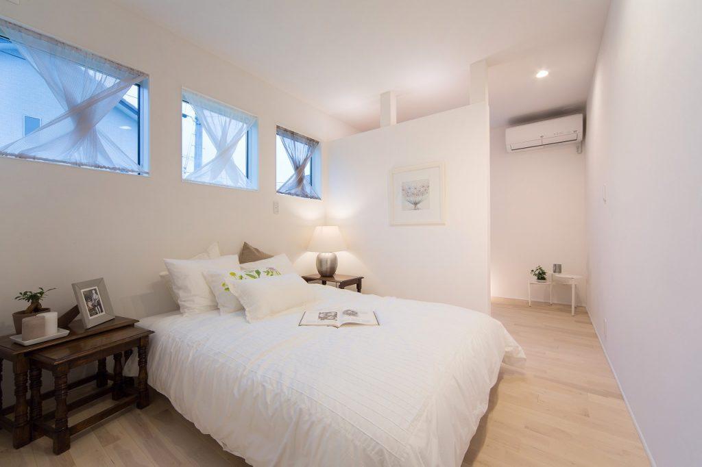 寝室は1階で ゆくゆくは1階だけで暮らせる設計に。